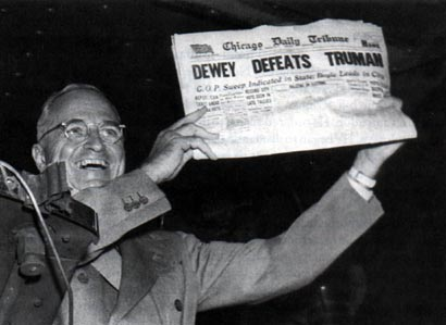 Harry Truman wins the presidential election